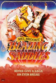 This is the poster for Blazing Saddles